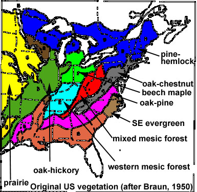 BIOMES - Biome map of us